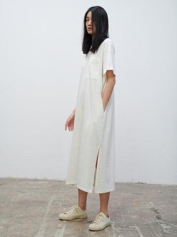 Boyd Jersey Dress In Optic White