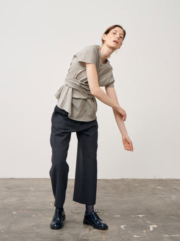 Brace Pant In Thornproof Grey Melange Wool