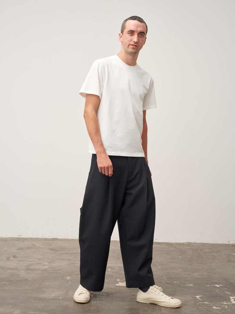 Bryn Pant In Slate Grey Wool - Studio Nicholson