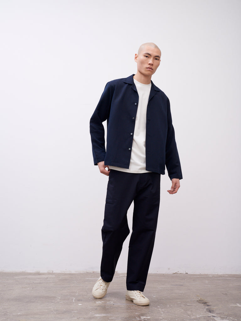 Calico Shirt Dark Navy - Studio Nicholson