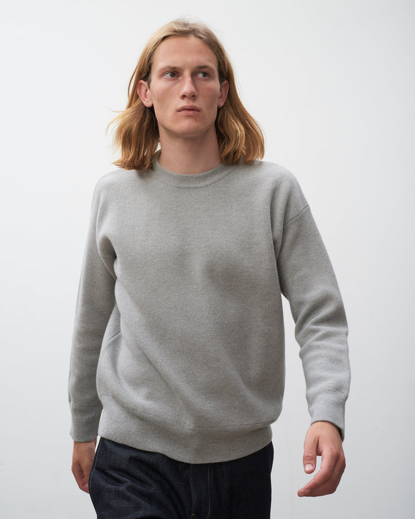 Centum Knit In Light Grey - Studio Nicholson