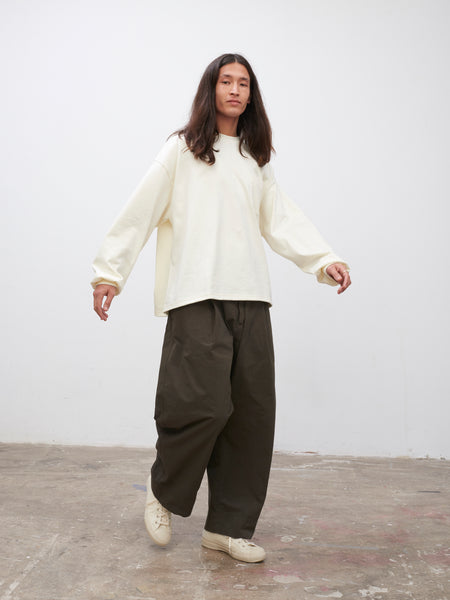 SNJP CHIBA Pant in Olive - Studio Nicholson