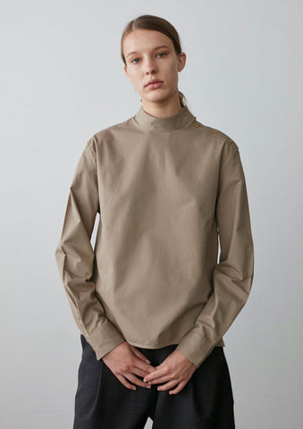 Christy Shirt In Sand Twill