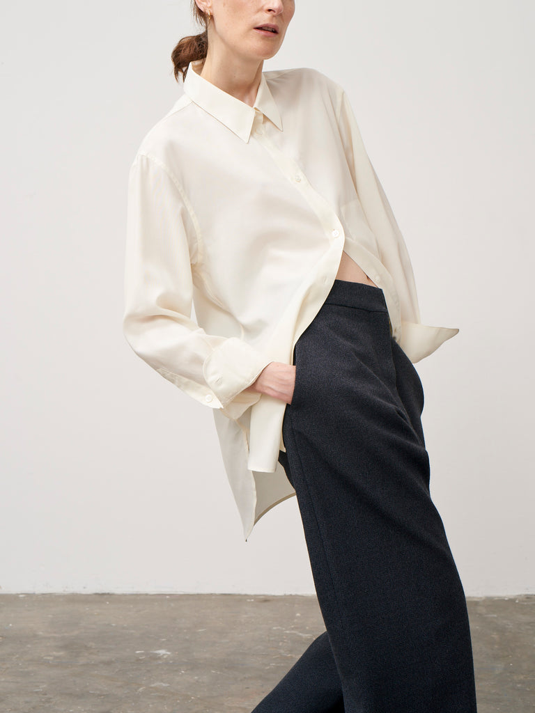 Coptic Long Sleeve Shirt In Ivory - Studio Nicholson
