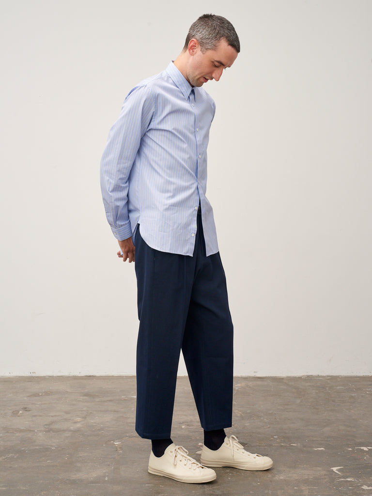 Cork Shirt In Blue Stripe - Studio Nicholson