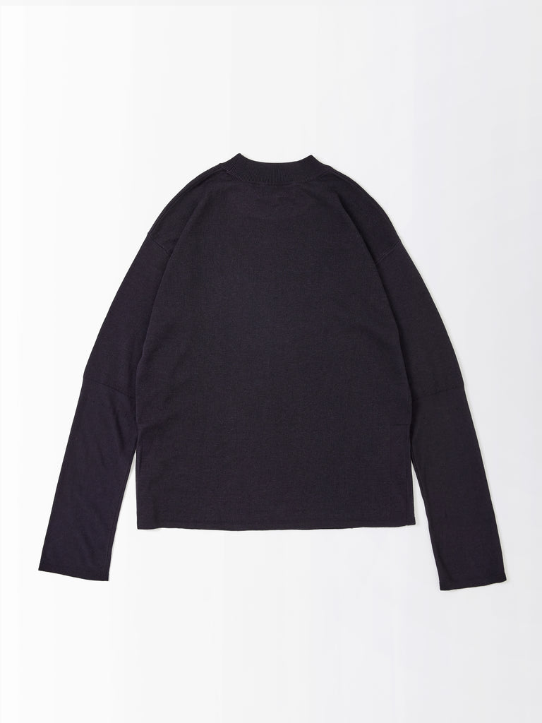 Daikoku Knit Top In Dark Navy