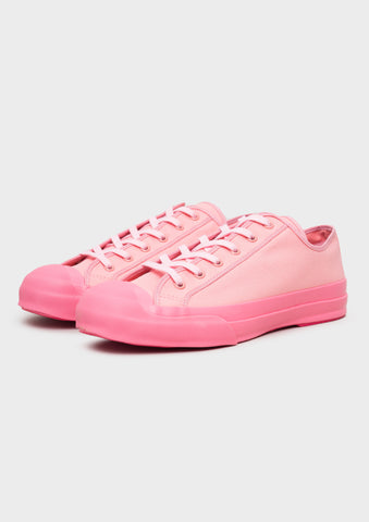 Merino Vulcanised Sole Canvas Shoe In Pink