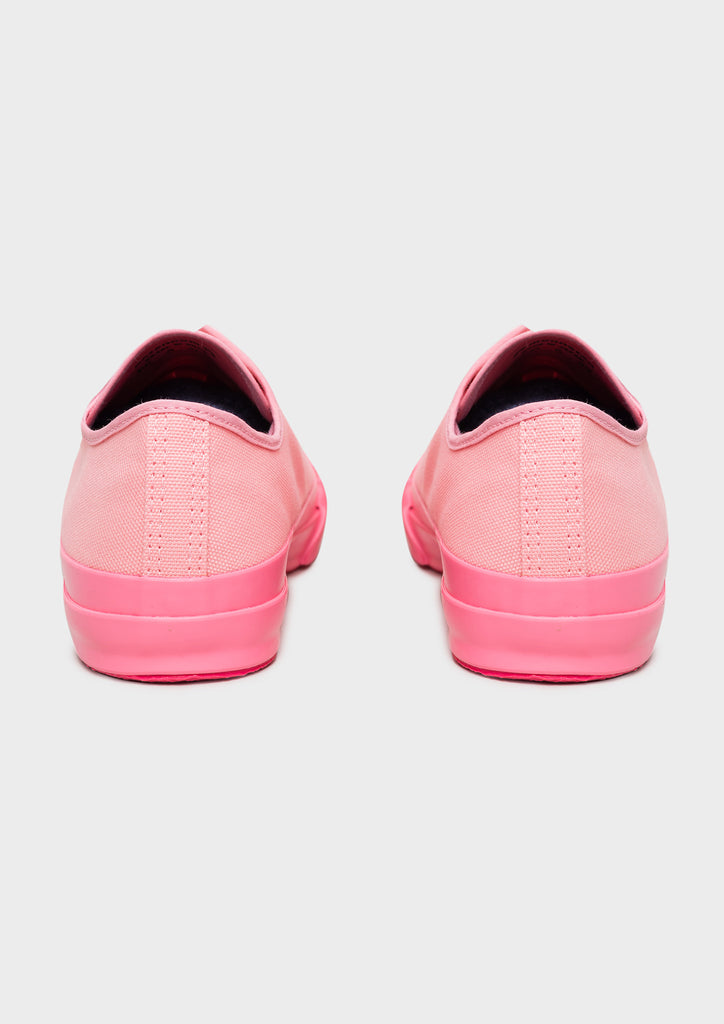 Merino Vulcanised Sole Canvas Shoe In Pink - Studio Nicholson
