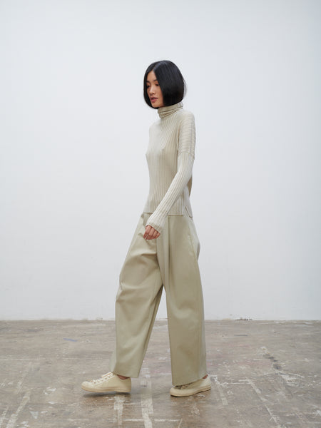 Dordoni Volume Pant In Bone - Studio Nicholson