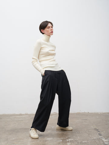 Doriko Fluid Wool Pant In Graphite