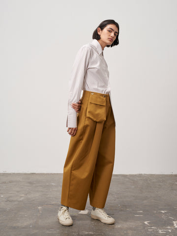 Double Pant In Mustard