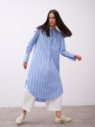 Flack Shirt Dress In Stripe