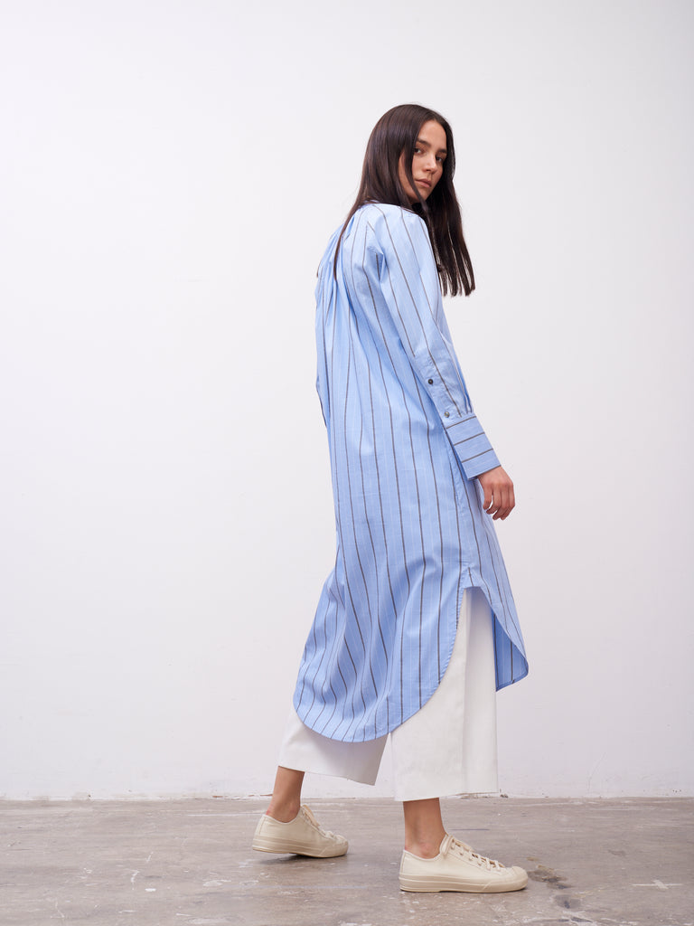 Flack Shirt Dress In Stripe - Studio Nicholson