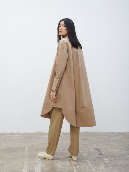 Galvan Shirt Dress In Tan - Studio Nicholson