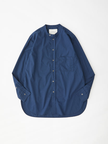 SNJP HAKONE Shirt in Dark Navy Supima Cotton