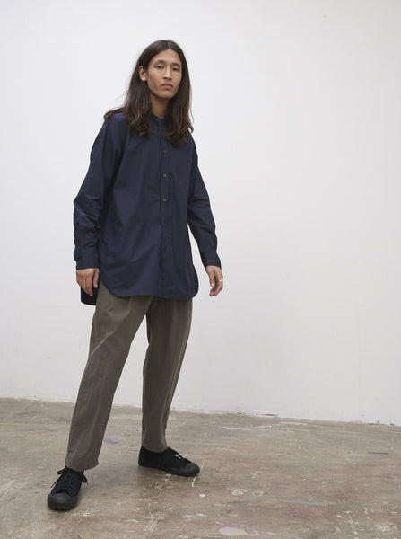 SNJP HAKONE Shirt In Micro Cotton Dark Navy