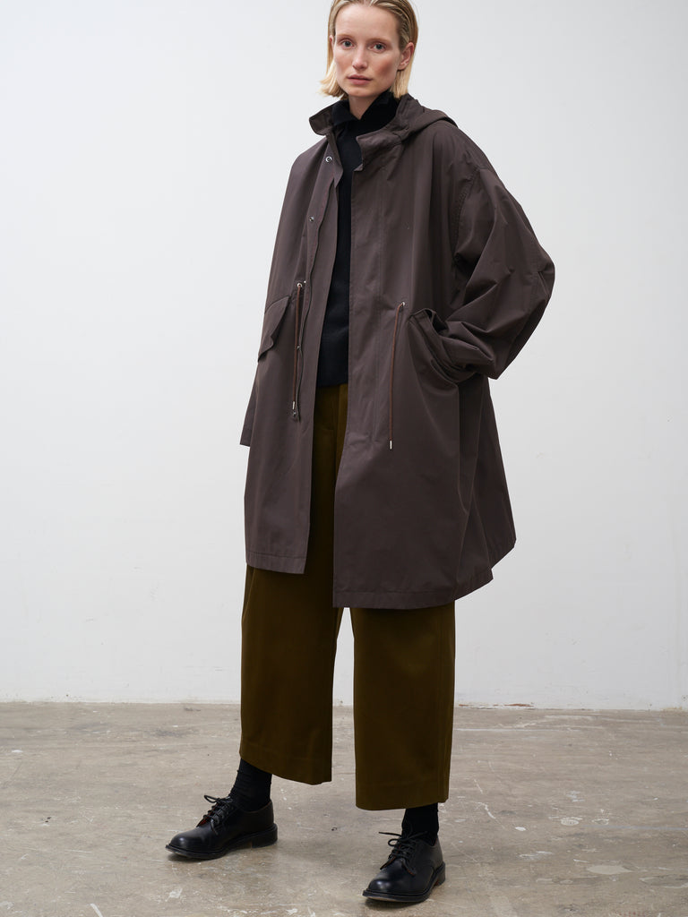 Hectare Parka In Dark Brown - Studio Nicholson