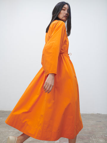 Herran Dress In Saffron