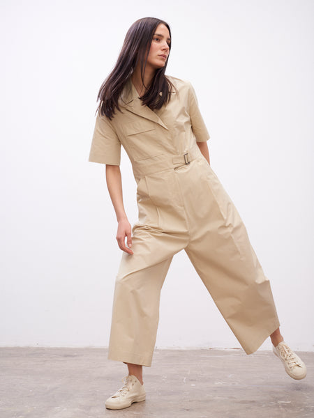 Hesse Utility One-Piece In Sand - Studio Nicholson