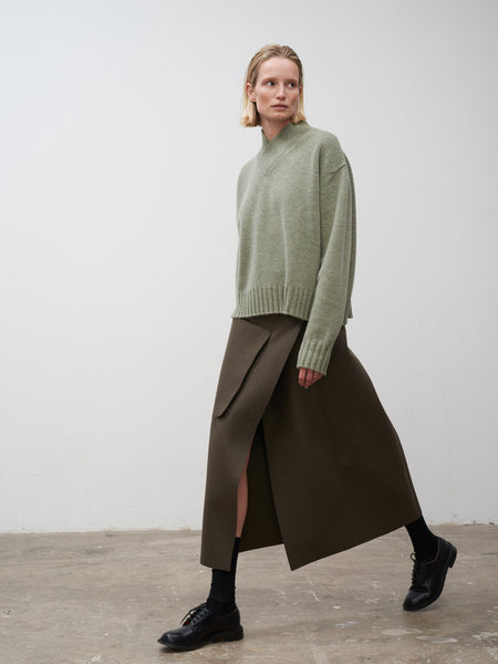 Hiro Skirt In Forest Green - Studio Nicholson