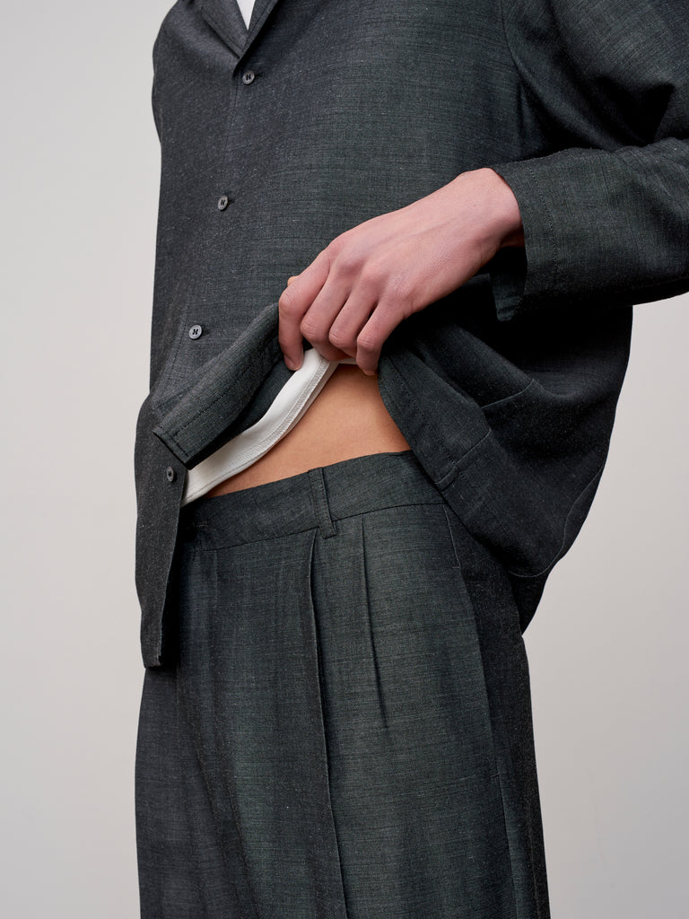 Jefferson Pant In Slate Grey - Studio Nicholson