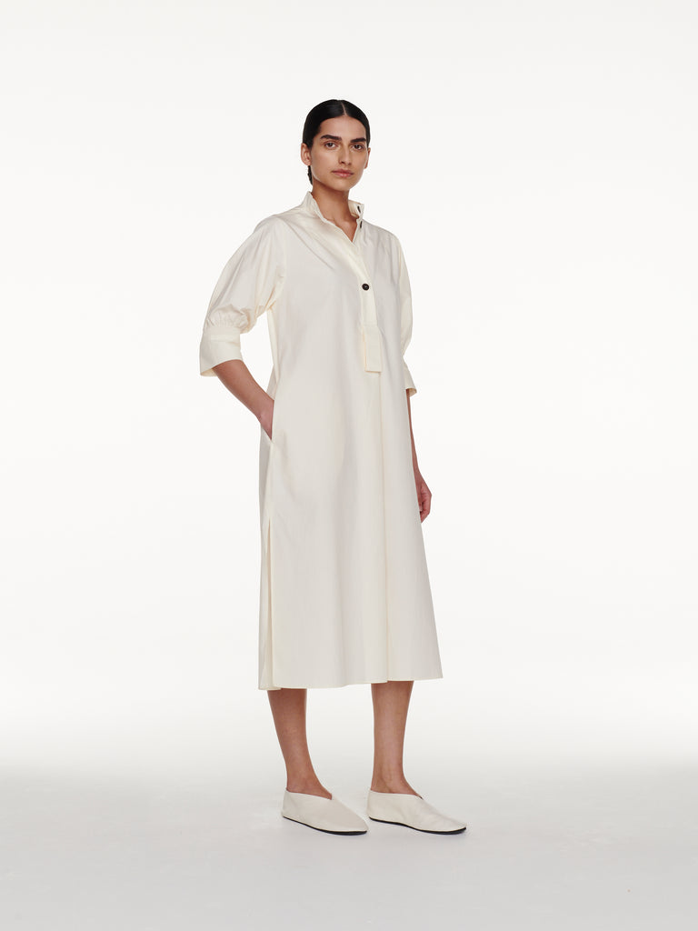 Knoll Dress in Milk