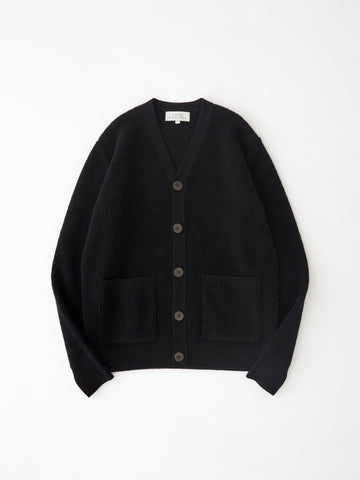 SNJP KOBE Lambswool Cardigan in Black