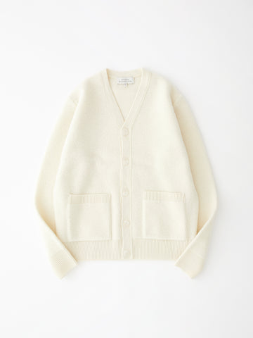 SNJP KOBE Lambswool Cardigan in Raw White