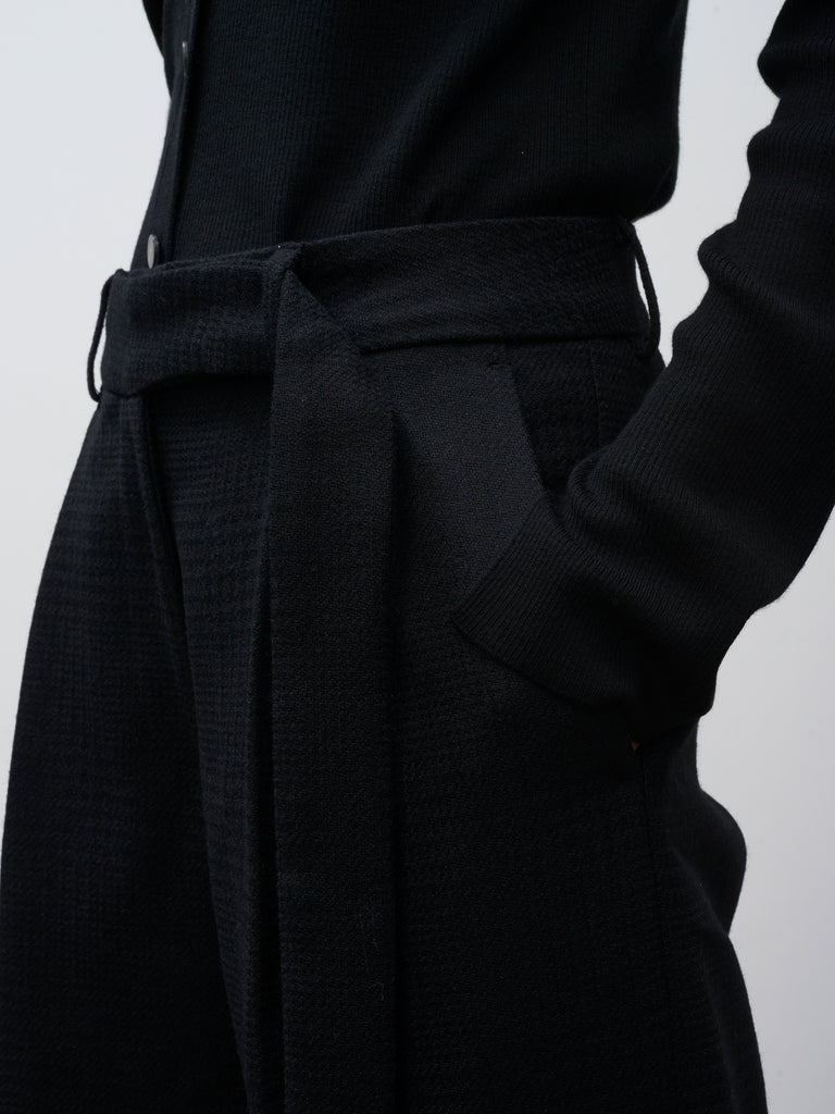 Kilo Wide Leg Pant In Black - Studio Nicholson