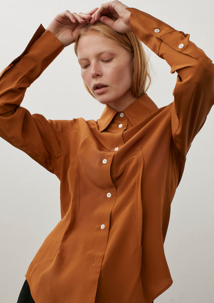 Kite Shirt In Tobacco Silk