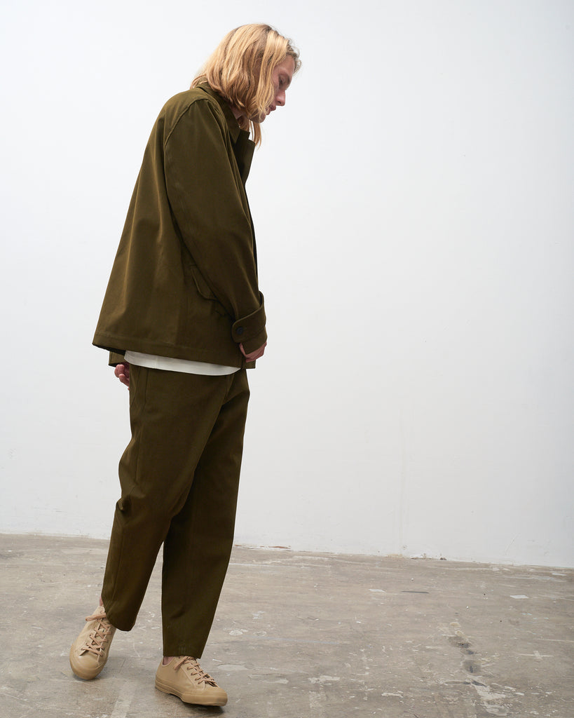 Koku Jacket In Olive - Studio Nicholson