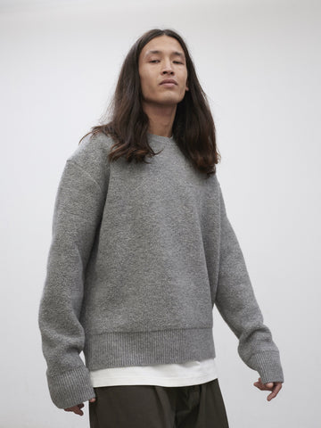 SNJP KURASHIKI Fleece Knit Grey Marl