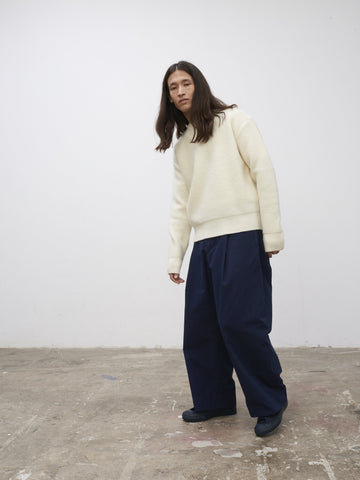 SNJP KURASHIKI Fleece Knit Raw White