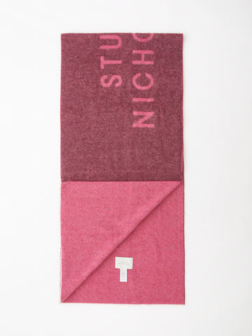 Logo Scarf In Beetroot / Magenta