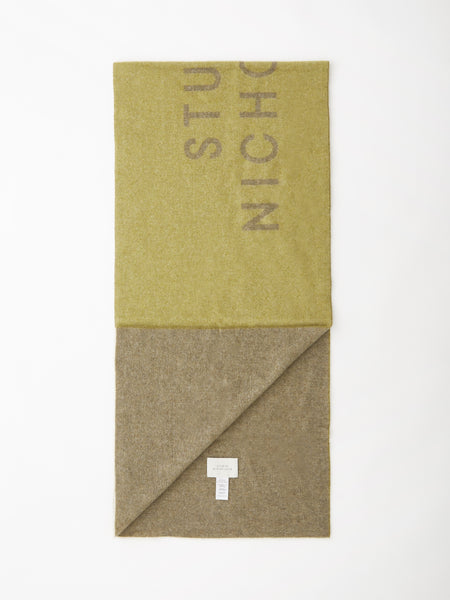 Logo Scarf In Moss / Sage