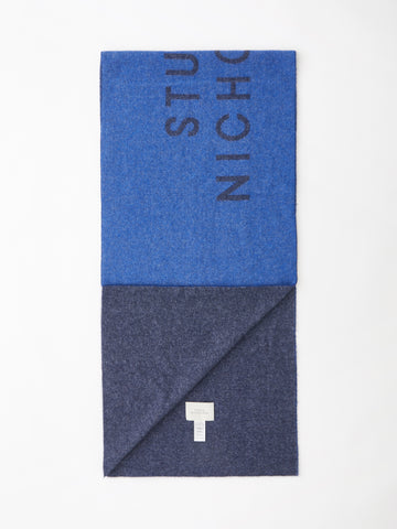 Logo Scarf In Navy / Dark Navy