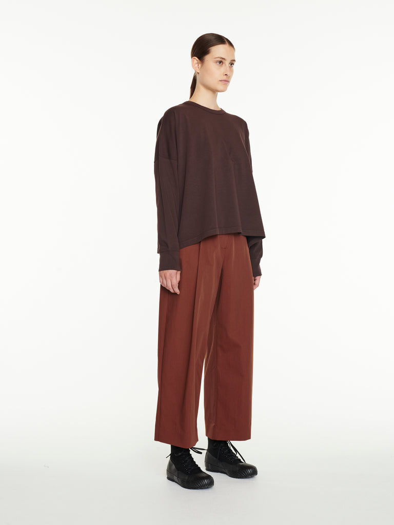 Loop Long Sleeve T-Shirt In Espresso