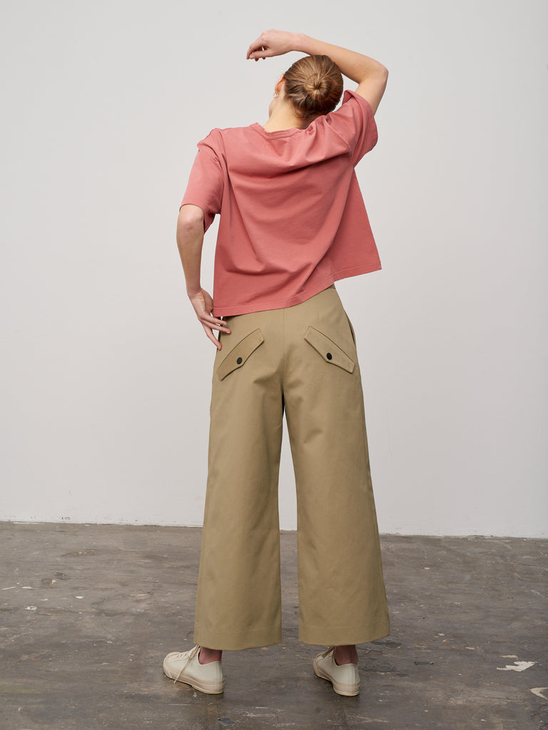 Lee T-Shirt In Medina Pink - Studio Nicholson