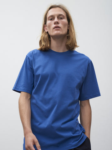 Letra T-Shirt In Klein Blue