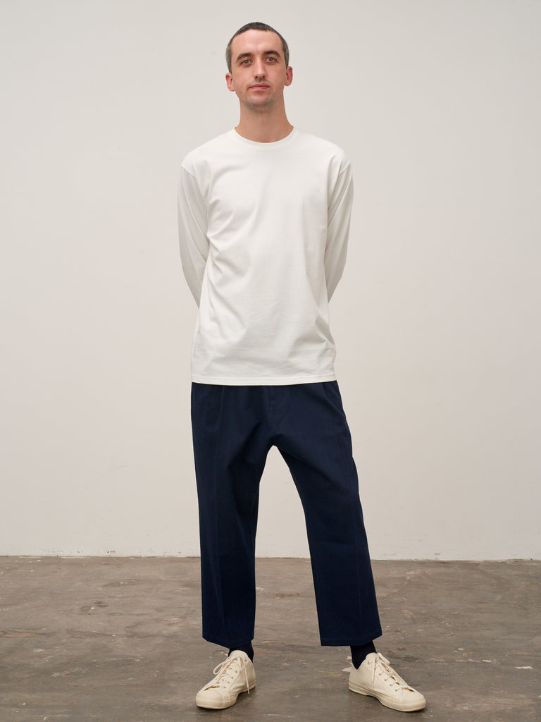 Lick Long Sleeved T-Shirt In Ivory - Studio Nicholson