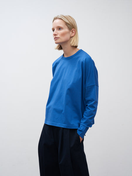 Loop Long Sleeve T-Shirt In Klein Blue - Studio Nicholson
