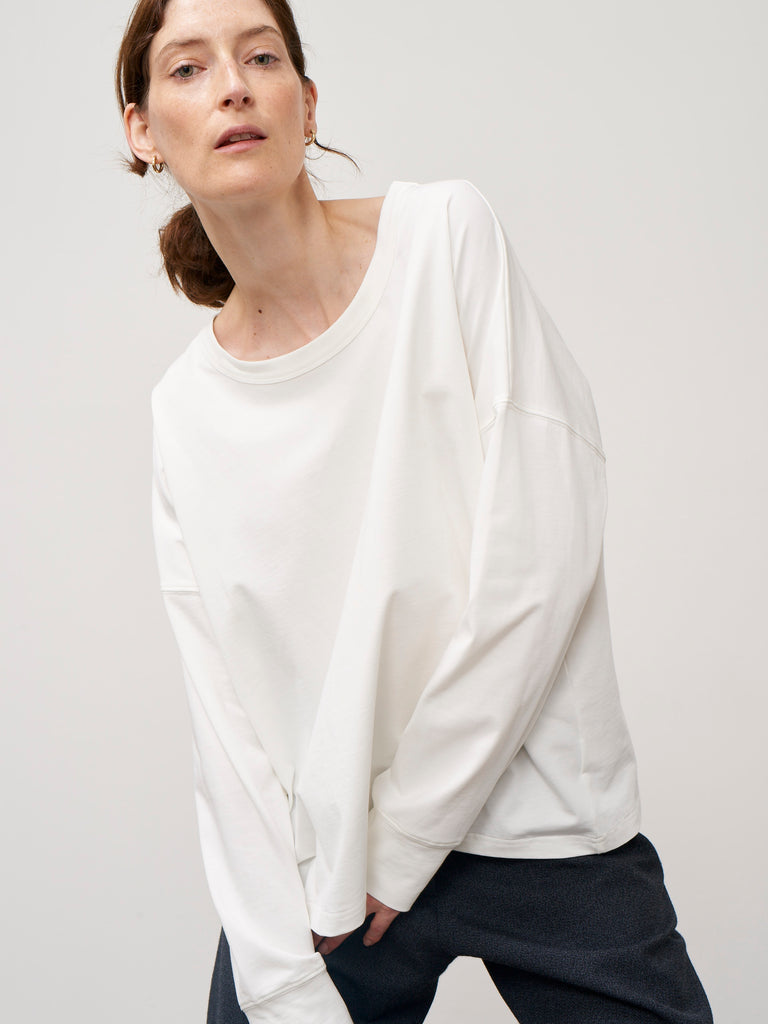 Loop Tee Shirt In Optic White - Studio Nicholson