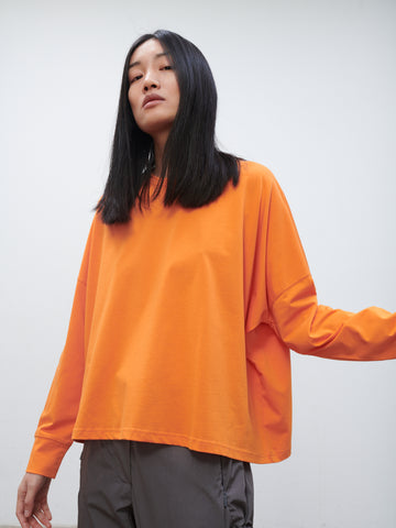 Loop Long Sleeve T-Shirt In Saffron
