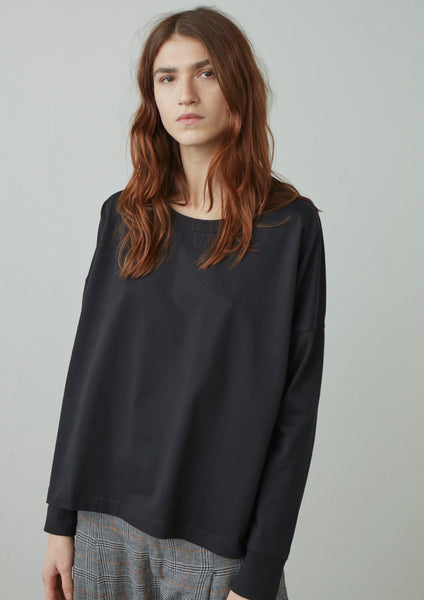 Loop Tee In Black - Studio Nicholson