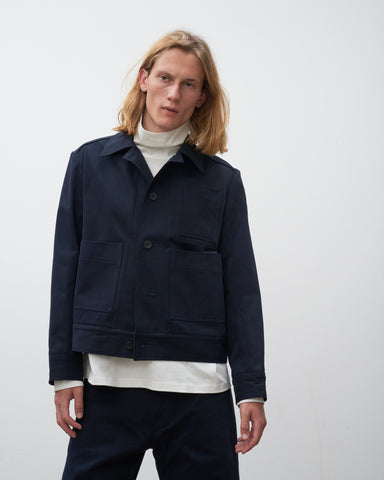 Lorrie Mechanic Jacket In Dark Navy