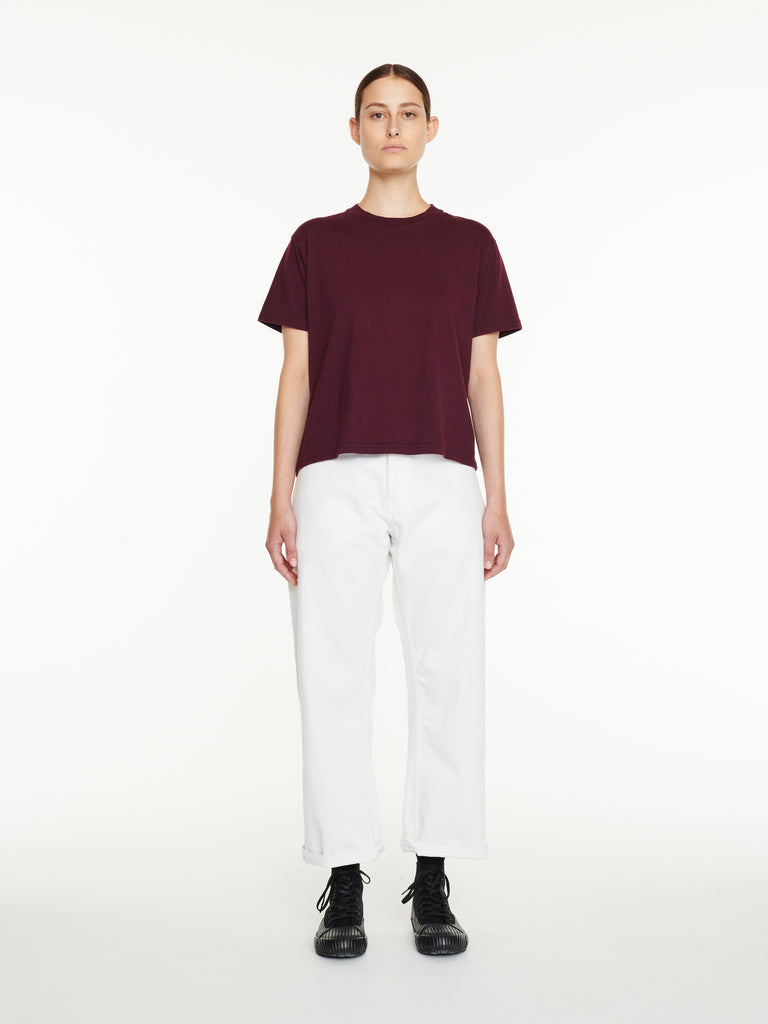 Marine T-Shirt In Beetroot