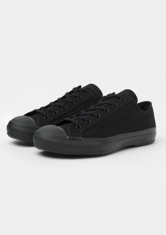 Merino Vulcanised Sole Canvas Shoe In Black
