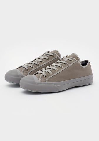 Merino Vulcanised Sole Canvas Shoe In Lead