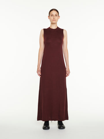 Moteki Knit Dress In Beetroot