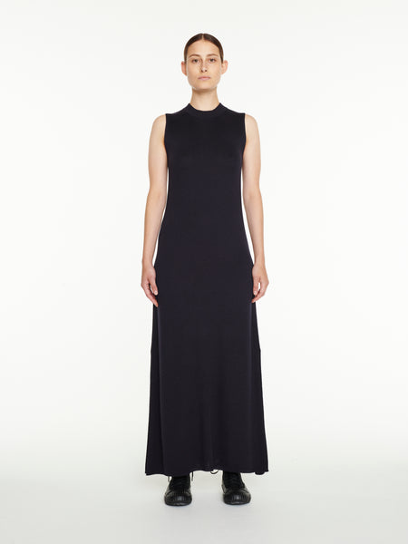 Moteki Knit Dress In Dark Navy